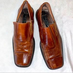 Fratelli Select Brown Square Toe Leather Shoes 8.5